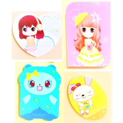 Variety Art & Shapes Cartoon Mirror Comb Set Children Mirror Comb Portable Essential For Makeup Bag