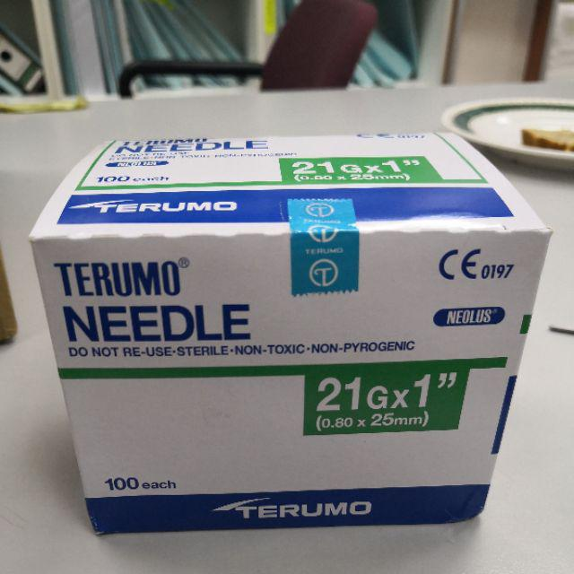 Terumo Needle 21g x 1