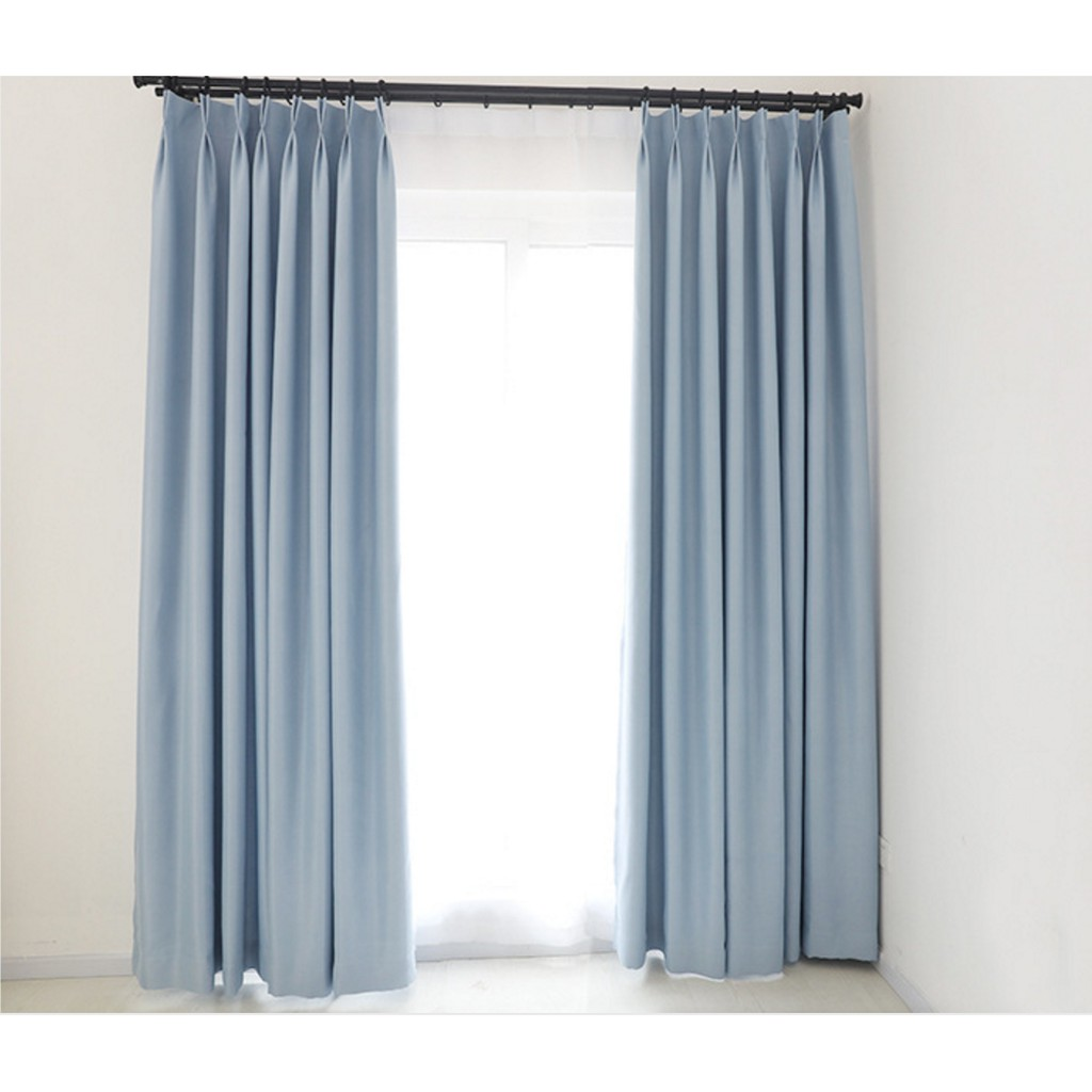 Melin Sky Blue Blackout Curtains For Living Room Bedroom Window Decors Langsir Shopee Malaysia