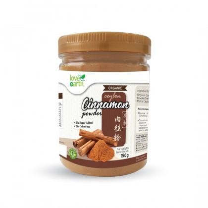 Love Earth Organic Cinnamon Powder 150g 乐儿天然肉桂粉 150公克 (罐装)