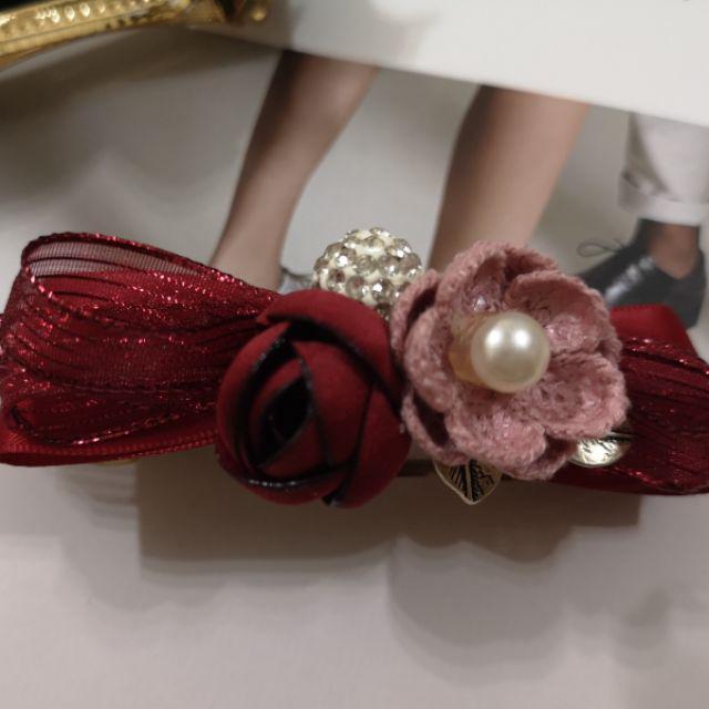 Floral ribbon handmade hairclip