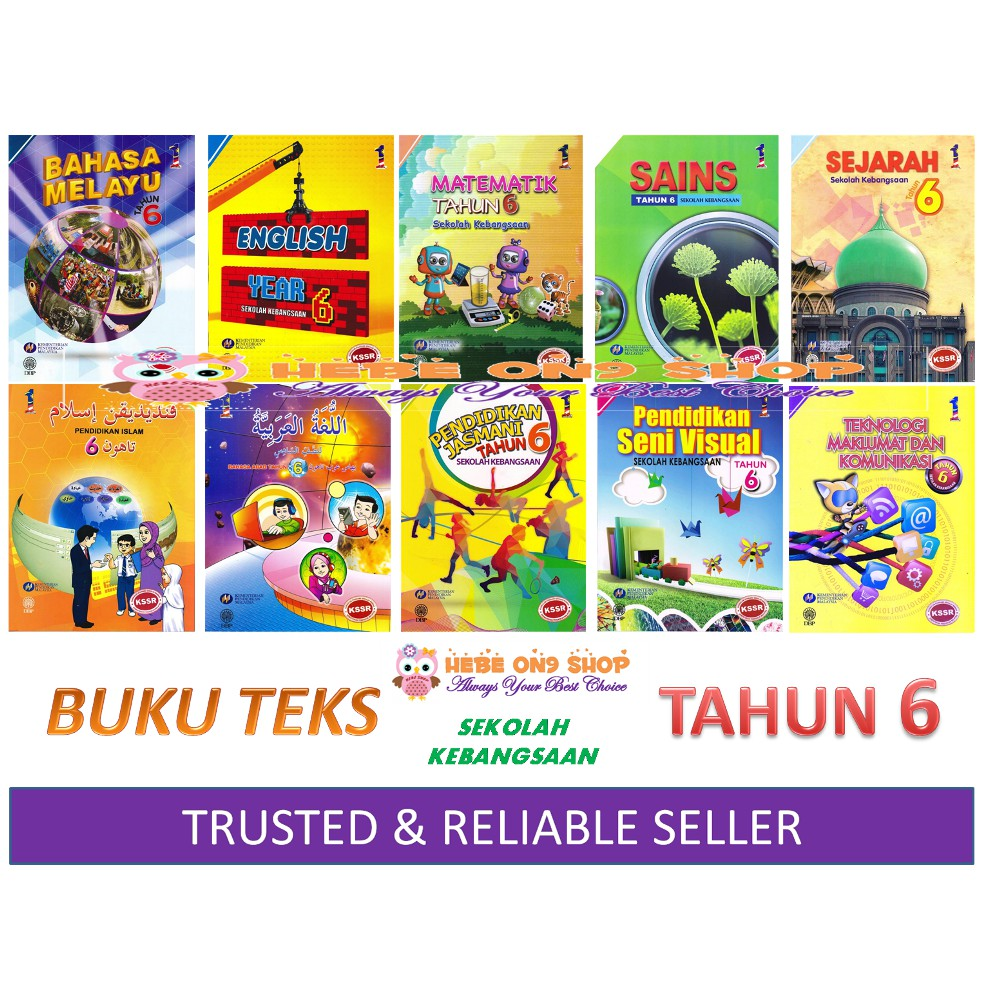 Buku Teks Sekolah Kebangsaan Tahun 6 Textbook Year 6 Series Shopee Malaysia