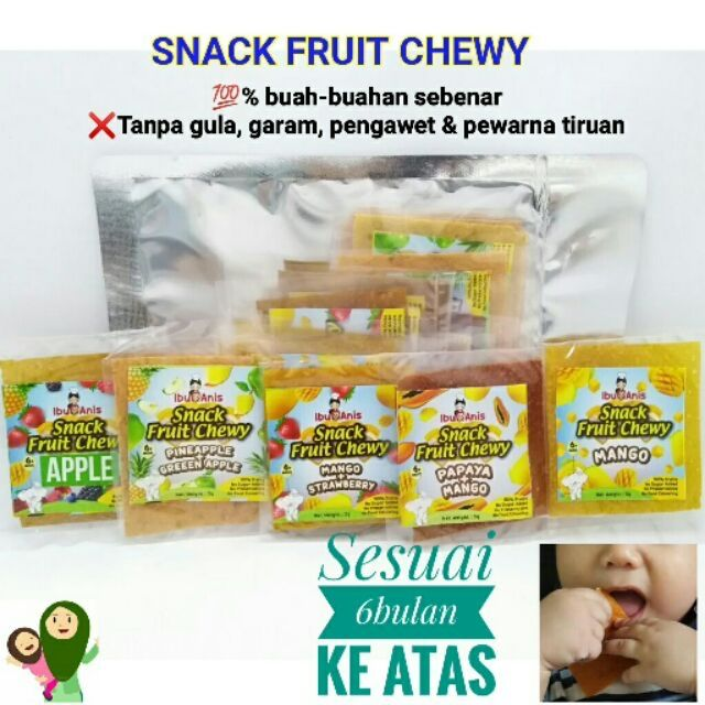HOMEMADE BY IBU ANIS SNACKFRUIT CHEWY FAST SHIPPING 6MONTH ABOVE