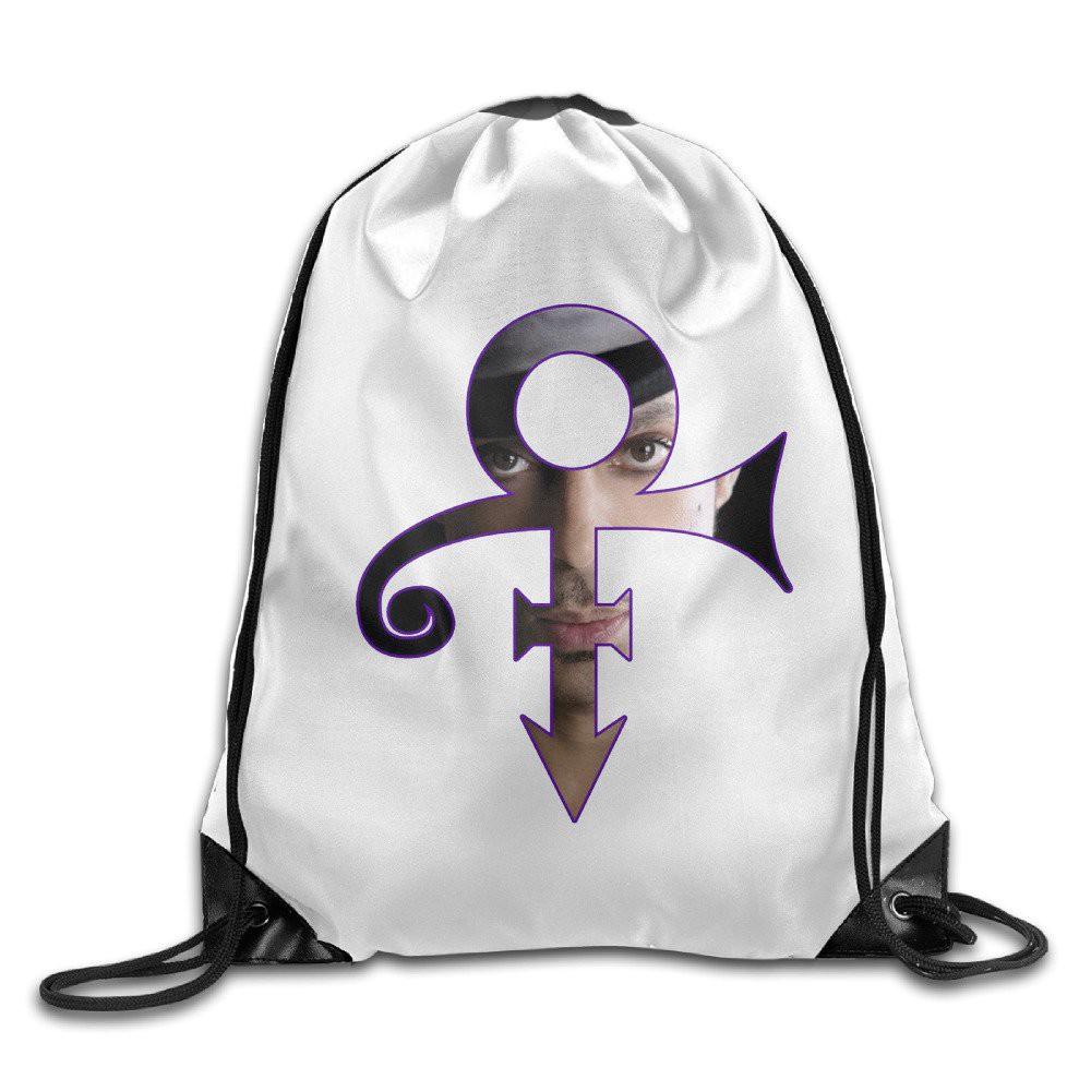 R I P  Rock Legend Prince Rogers Nelson Logo Drawstring Backpack Bag