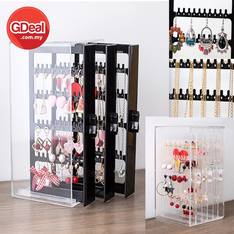 GDeal Ear Necklace Accessories Three Plastic Drawer Storage Box Laci Anting Anting لاچي انتيڠ انتيڠ
