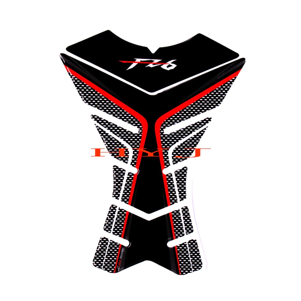Red Carbon Look Motorcycle Tank Pad Protector
