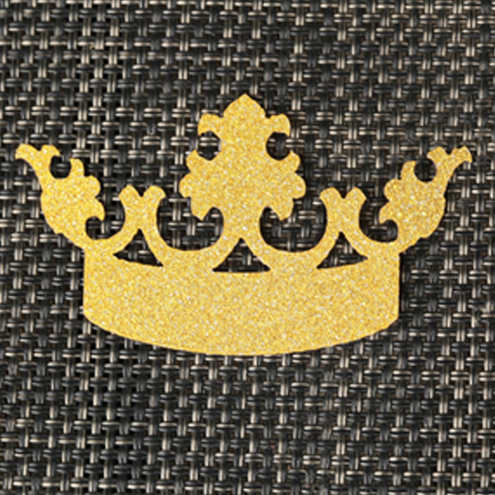 SKCQ003 25PCS Glitter Crown Cupcake Toppers Cake Decoration Gold Crown Cake Cupcake Topper for Wedding Party