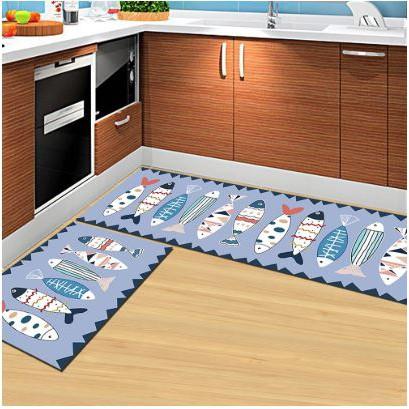 Non-Slip Kitchen Floor Mats (FISH)