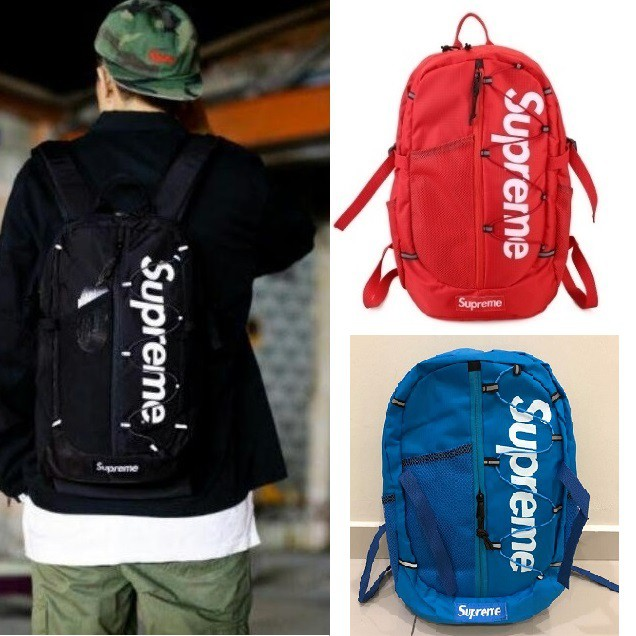 buy popular ae7ee 84f2d  READY STOCK MALAYSIA  - Supreme Backpack SS17 Backpack Travel Bag   Shopee  Malaysia
