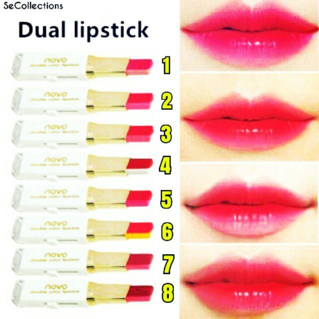 Novo Lipstick Double Double Novo Double Colour Novo Colour Novo Lipstick Colour Lipstick