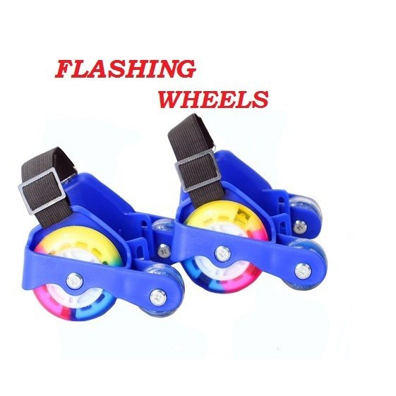 [READY STOK] SEPASANG TAYAR KASUT RODA KANAK-KANAK / Flashing Wheels with light