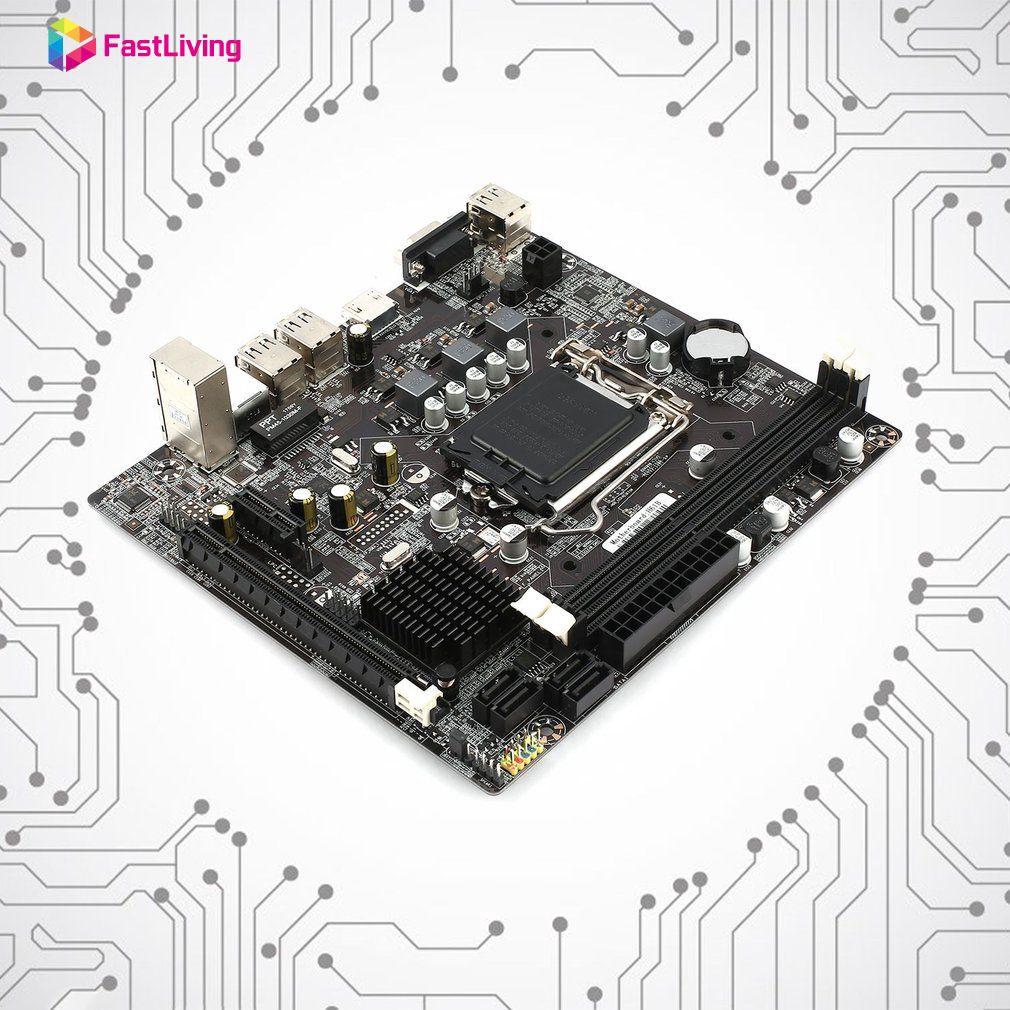 H61 Desktop Computer Mainboard Motherboard 1155 Pin CPU Interface USB2.0 Fast