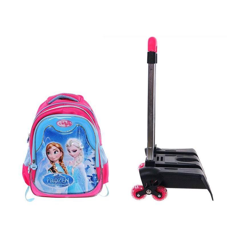 School Bags 3 Wheels Pink BAG0007PK