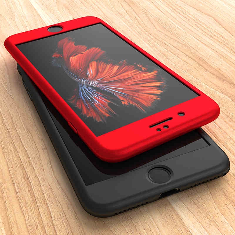 360 Full Protective iPhone 5s 7 8 6S 6 Plus Ultra Thin PC Matte Case Cover