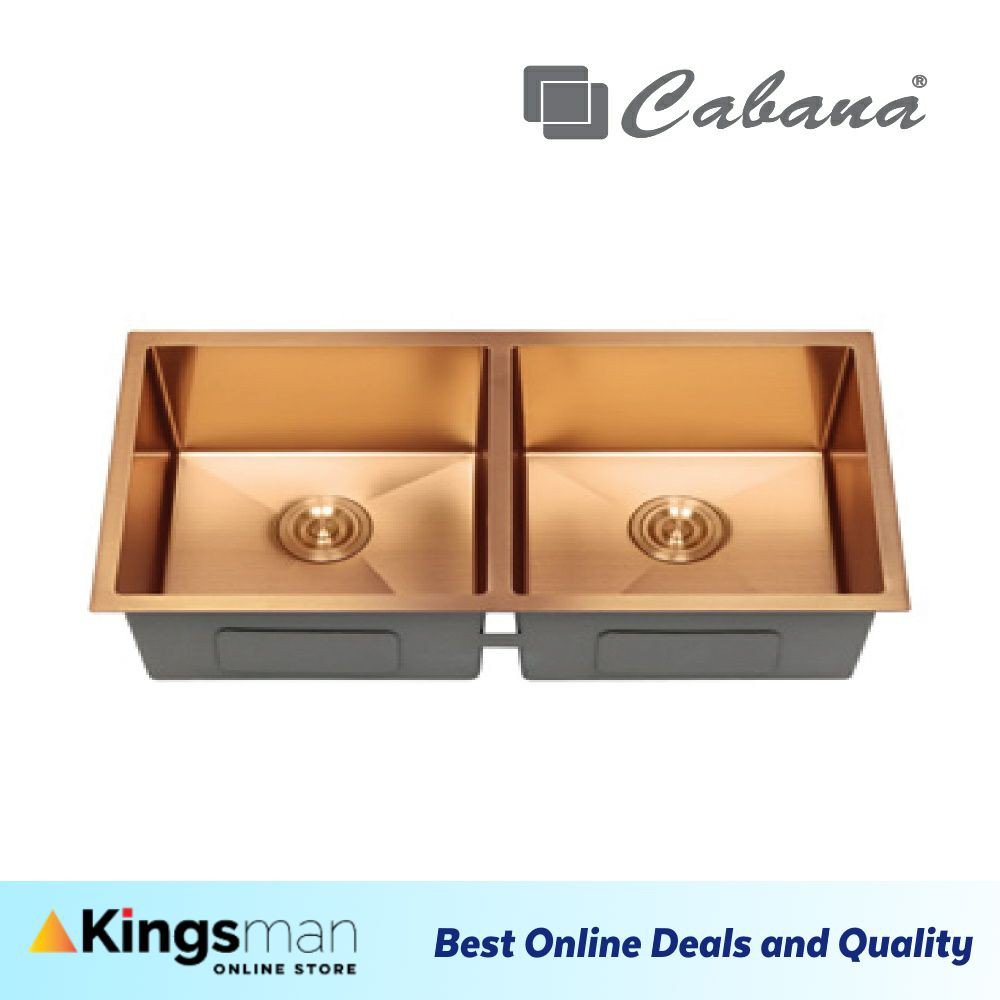 [Kingsman] Cabana Undermount Stainless Steel Home Living Kitchen Sink Double Bowl Ready Stock - CKS7507