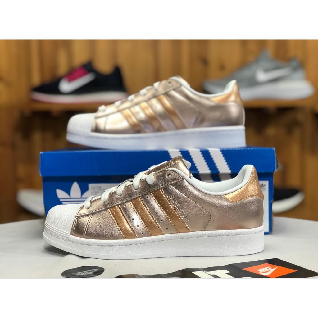mieux aimé 8e0a5 393e4 Women shoes Adidas SUPERSTAR Classic thick-bottomed shoes casual shoes soil  gold