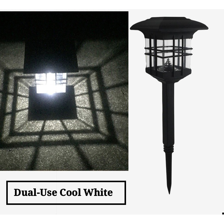 [ READY STOCK ]  Solar Powered Post Lawn Lamp House Light Waterproof Outdoor Pelita Lampu Jualan Murah Led Flash Flood