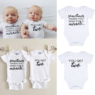 6faf95da9fd35 H-C☆US Newborn Baby Clothes Boy Girls Rompers Bodysuits Matching ...
