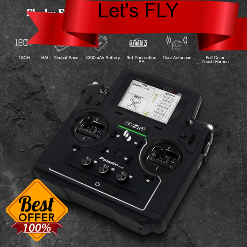 Great Discount Flysky FS-PL18 Paladin 18CH 2.4G RC Transmitter With FTr10 FTr16S Receiver Touch Screen For RC FPV Racin