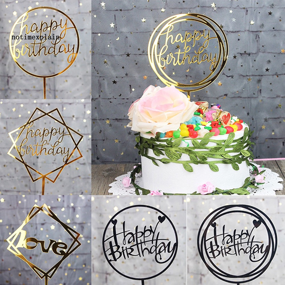 Personalised Acrylic Accordion Musical Instrument Birthday Cake Topper