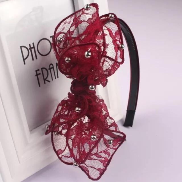 新款网纱蕾丝蝴蝶结发箍清货价优惠只要RM8