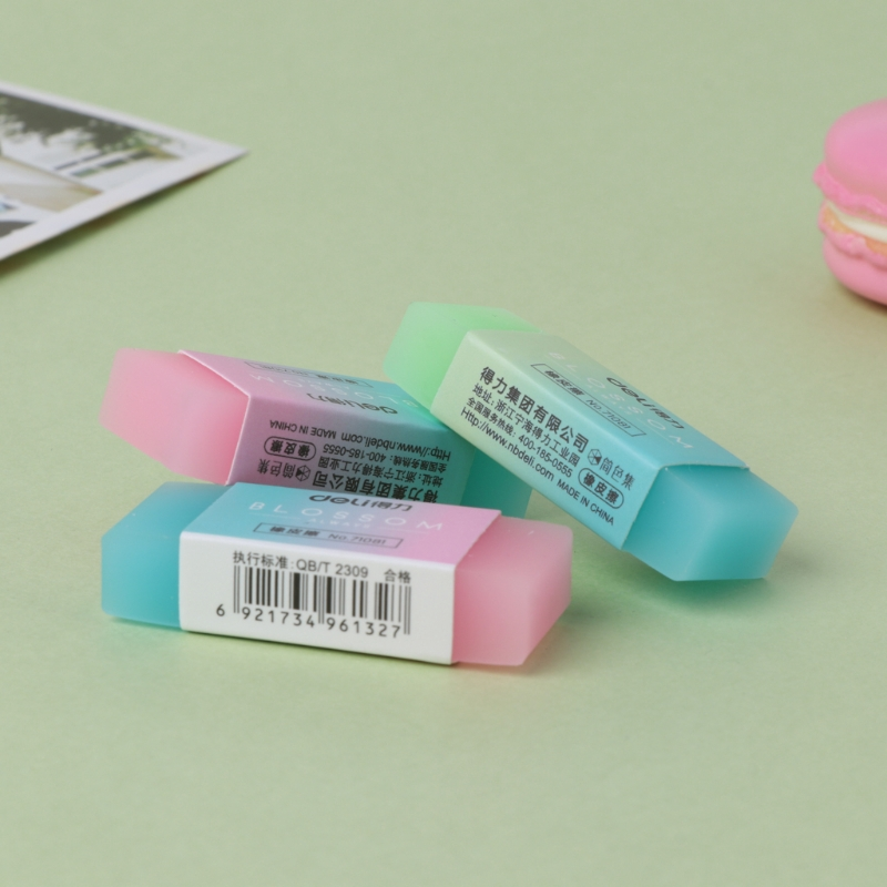 Two styles 8 Pieces Soft Durable Flexible Cute Colored Pencil Rubber Erasers for School Kids and Office