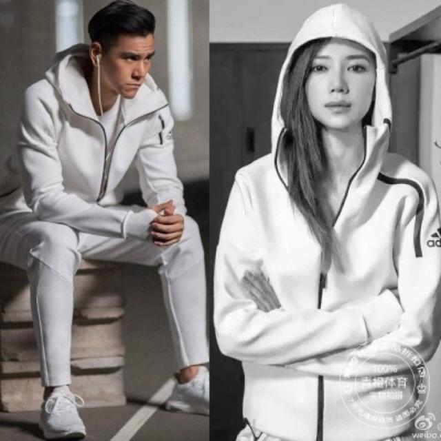 Hacia abajo Crudo Inesperado  Adidas adidas ZNE hooded jacket sweater men and women couple ...