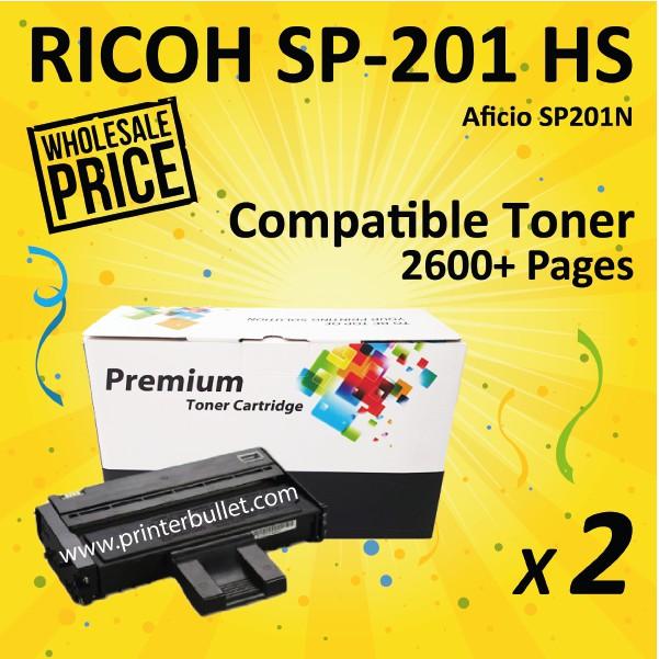 2 unit Ricoh SP200 / SP201 / SP204 Ricoh Aficio Compatible Laser Toner Cartridge