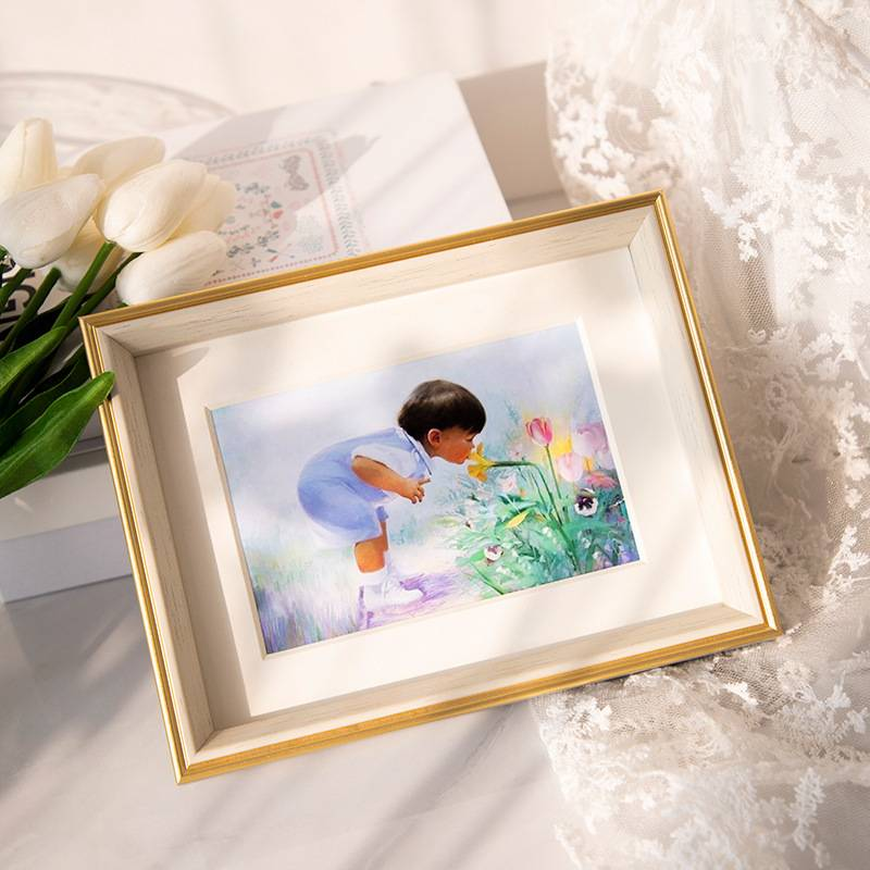 Nordic Simplicity Frame With Free Photo Printing In 5R, 6R, 8R, 8inx12inch, 10R & 12R Size/Bingkai Gambar/北欧简约风