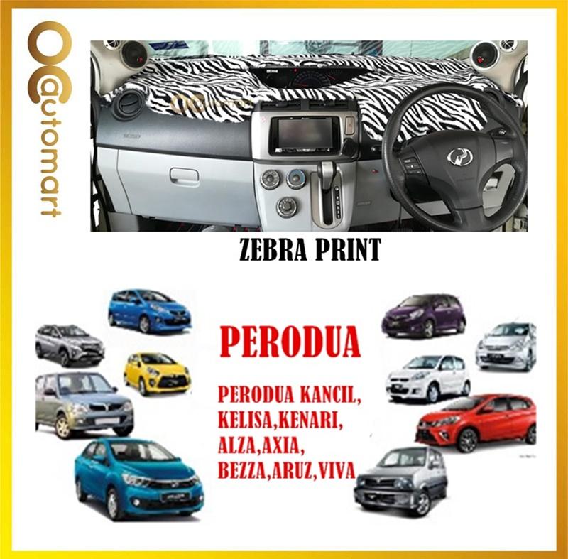 Customized Dashboard Cover Fur/Bulu For Perodua Car (Myvi,Kelisa,Alza,Axia,Aruz,Viva,Kancil,Kenari,Bezza) - Zebra Print