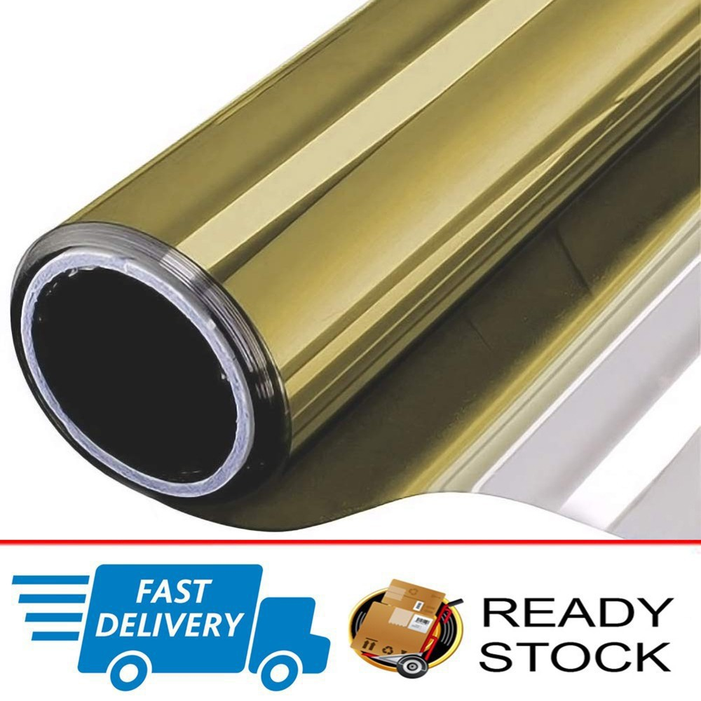 Chrome 5/% Light One Roll Mirror Window Tint Film 10 Ft x 20 In Wide Lets In NEW