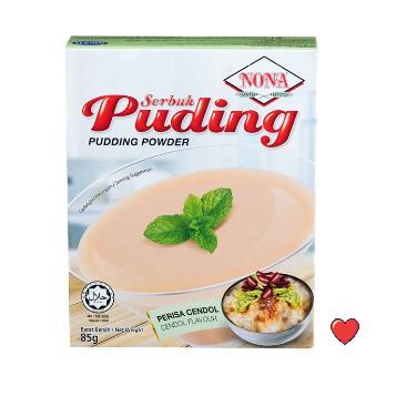 NONA Serbuk Puding Powder - Cendol Flavour @ 85g ( Free Fragile + Bubblewrap Packing )