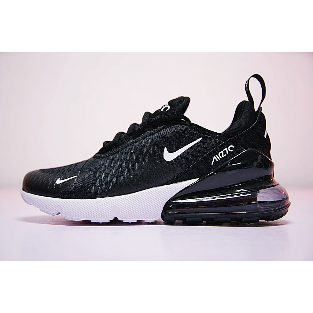 Nike Air Max 270 Shoes Men Airmax 27c Flyknit Running Shoes Sport Sneakers  Black