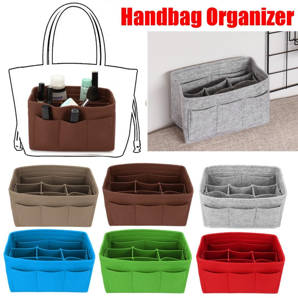 Felt Insert Handbag Organizer Travel Purse Bag Organizer Storage