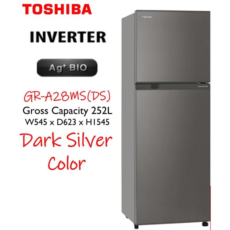 Toshiba GR-A28MS / GR-A28MU / GR-B31MU Inverter 5 Star Refrigerator Fridge Peti Sejuk