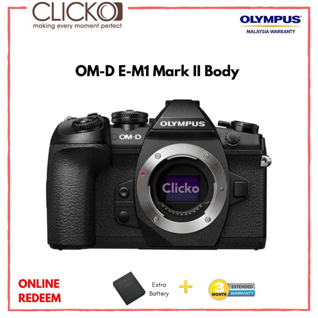 Olympus Om D E M10 Mark Iii Slk 14 42mm Ez Black Malaysia Ii Kit 40 150mm Shopee