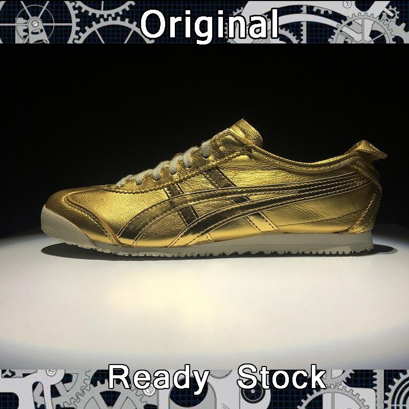 pretty nice b4dfb 4ca59 real picture Asics OnitsukaTiger MEXICO 66 gold color for men women running  shoe
