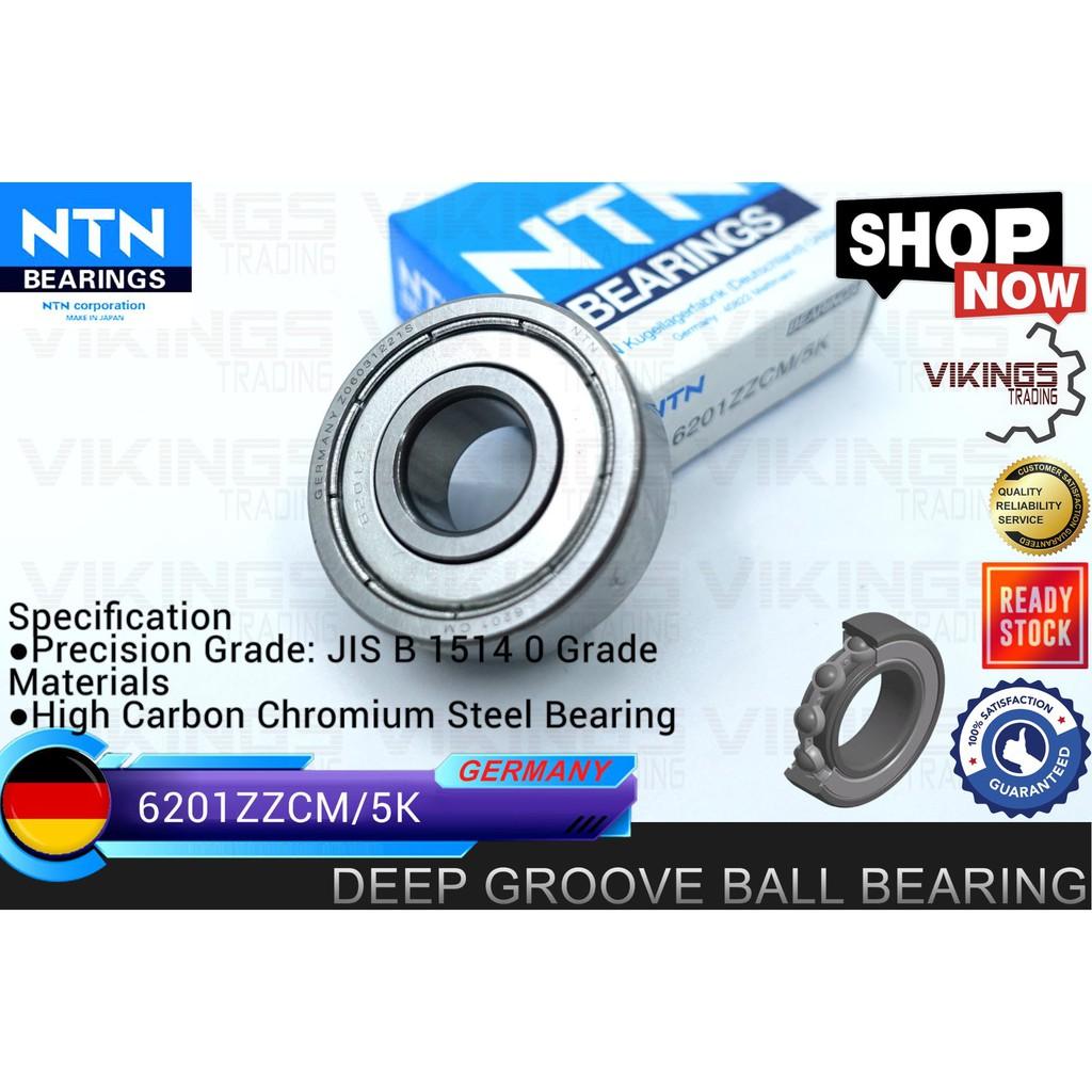 GERMANY 6201ZZCM 6201ZZ 6201 DEEP GROVE BALL BEARING 6201ZZCM/5K