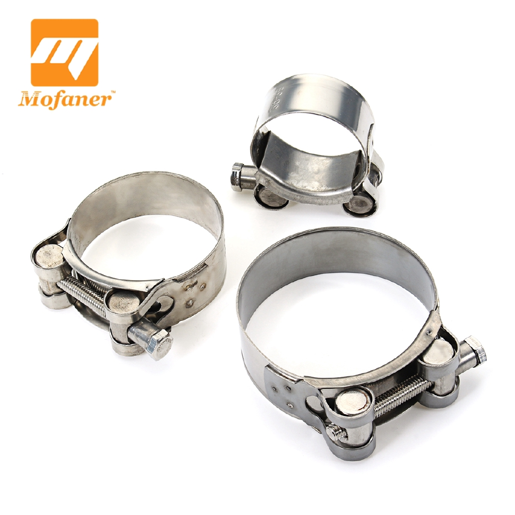 """2/"""" Stainless Steel Motorcycle Band Exhaust Pipe Clamp Caliper Muffler Silencer"""