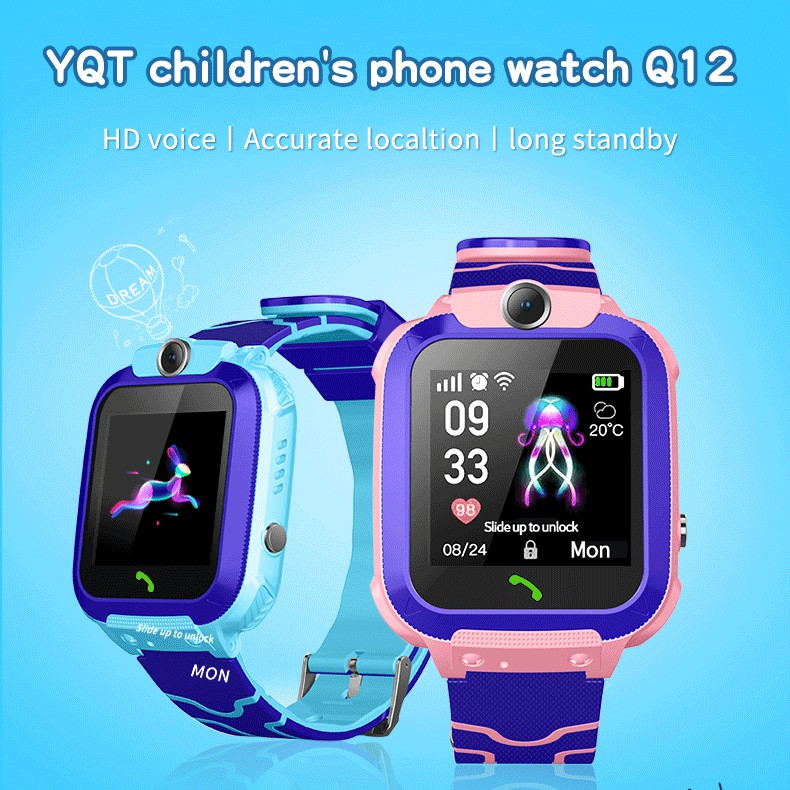 Diliberto Children smart watch Q12 kids GPS/LBS watch with Camera waterproof IP67 with WIFI