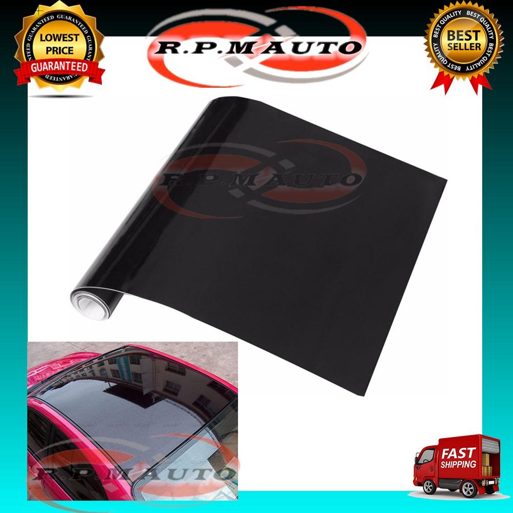 200cmX50cm Gloss Glossy Black Vinyl Film Sheets Car Sticker Wrap sticker kereta laptop