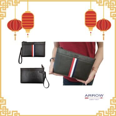 Arrow Synthetic Leather Men Clutch Bag 💼 Berputar lelaki klac beg Sintetik kulit besar fungsi beg lelaki