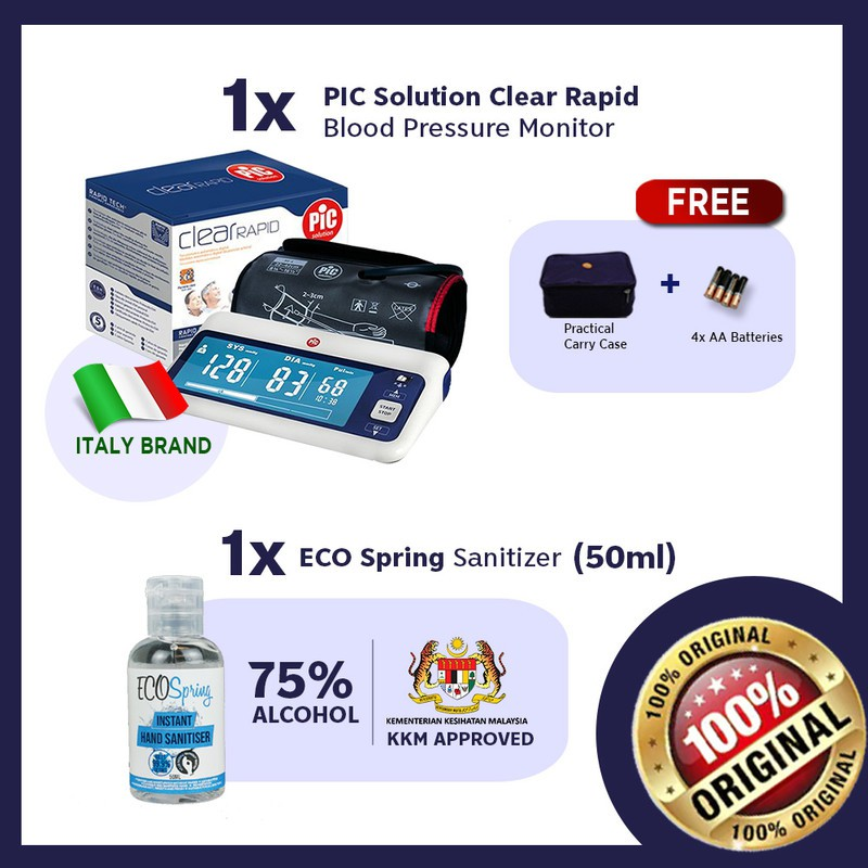 【Doctor #1 Blood Pressure Monitor】Italy PIC Solution Clear Rapid|5 Yrs Warranty