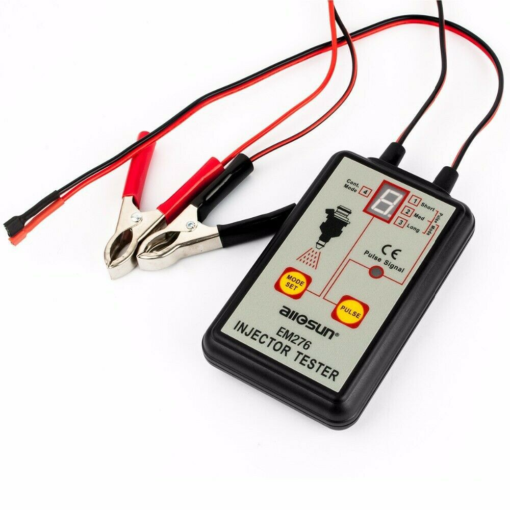 allsun 12V Universal Automotive Fuel Injector Pressure Tester Car Analyzer Tester 4 Pulse Modes Powerful Fuel System Scan Tool LED Display Diagnose System Problems