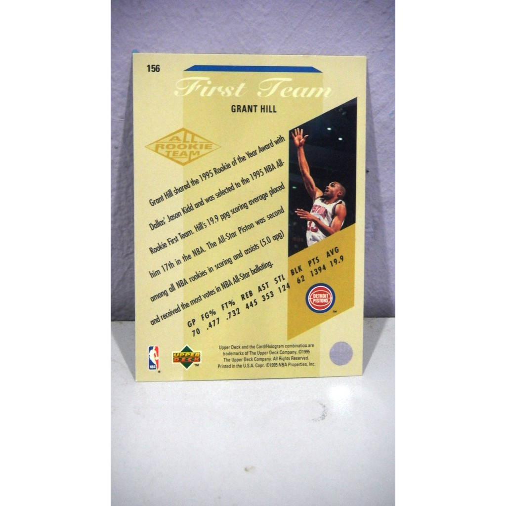 95 96 Upper Deck 156 Grant Hill Nba Trading Card Shopee