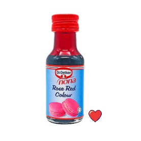Dr.Oetker Nona Rose Red Colour 25ml ( Free Fragile + Bubblewrap Packing )