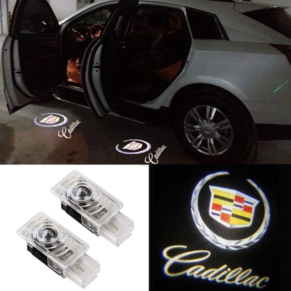 2pcs AutoPart for Cadillac SRX XTS ATS Car Door Logo Projector Ghost Shadow Led Light
