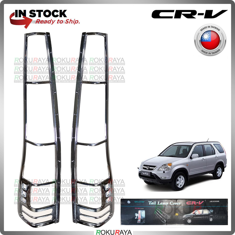 [CHROME] Honda CRV CR-V RD4-RD9 2002-2006 WELLSTAR ABS Plastic Rear Tail Lamp Garnish Moulding Cover Trim Car