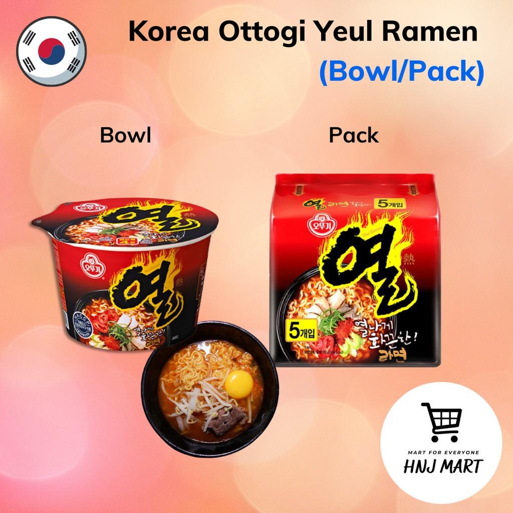 Korea Ottogi Yeul Ramen [Bowl/Pack] Ramyun Noodle