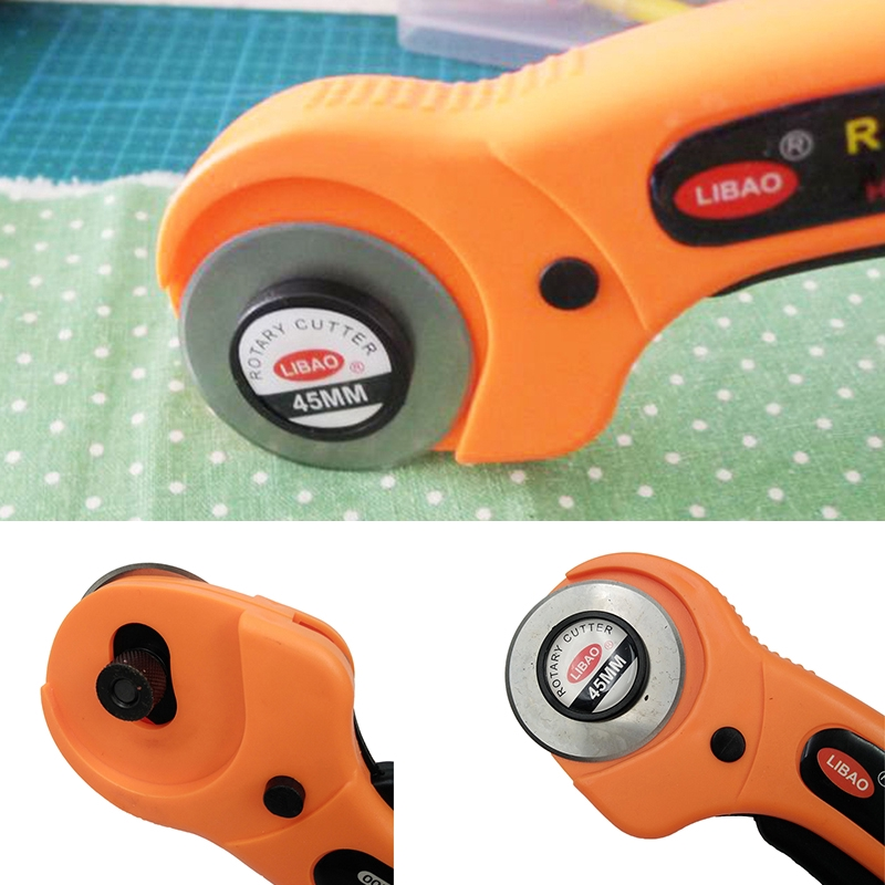 Rotary Cutter Premium Quilter Sewing Fabric Craft Quilting Cutting Tool 45mm